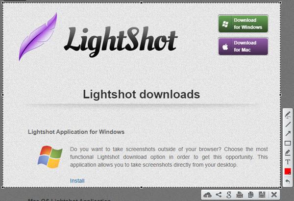 phần mềm chụp ảnh màn hình Lightshot