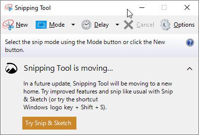 phần mềm chụp ảnh Snipping tool