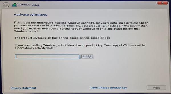 nhập key windows 10 bản quyền