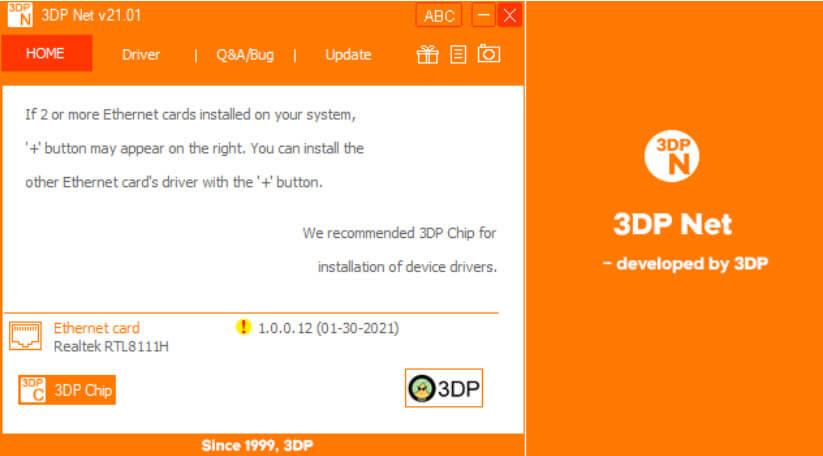 phần mềm 3dp net driver mạng
